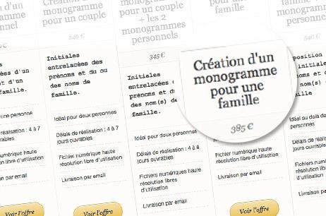 Comparez les offres de création de monogramme