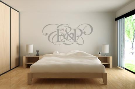 Monogramme - Initiales pour un Couple - Adhesif - Chambre