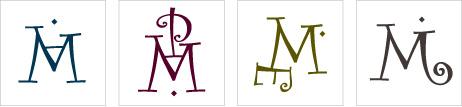 Monogramme de Famille avec 4 initiales